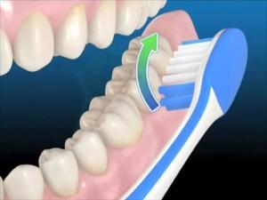 движения при чистке зубов